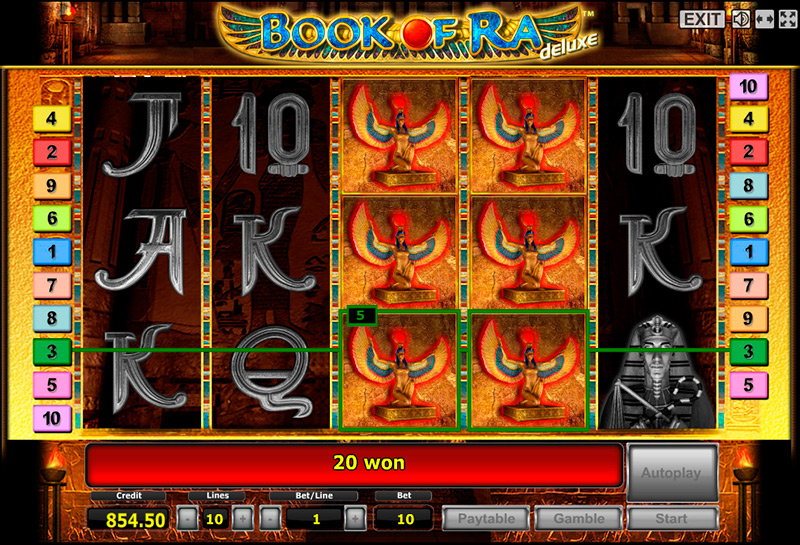 book of ra tricks novomatic