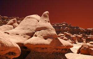 Goblin Valley with Martian sky